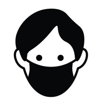 Face Mask Icon Vector New Normal Activity