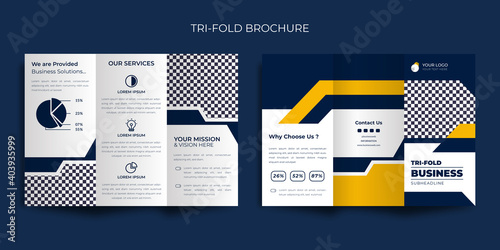 Fototapeta Corporate trifold brochure Premium Vector