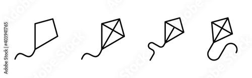 Photo Kite icon vector. kite vector icon.