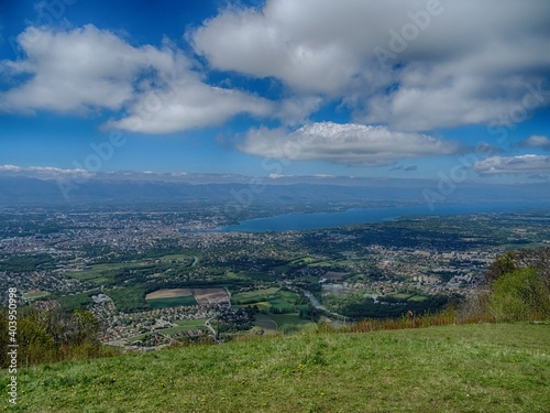Obraz Aerial View Of Landscape Against Cloudy Sky - fototapety do salonu