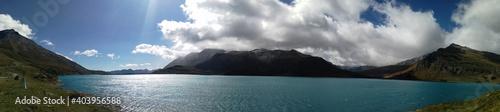 Slika na platnu Scenic View Of Sea And Mountains Against Sky