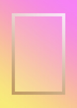 Pink Yellow Frame Gradient Border With Copy Space For Your Text.