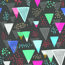 Colorful Geometric Shapes Abstract Pattern With Diamonds Marble Texture.