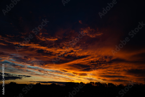 Photo fire in the sky