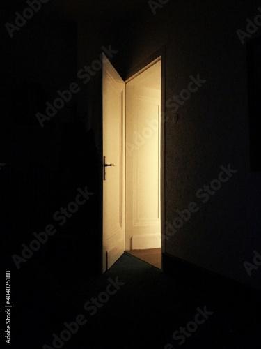 Open Door In Darkroom
