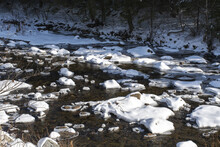 Boquet River Near The Bridge Of Wadhams NY In Winter