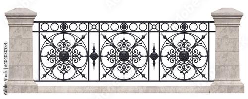 Photo Wrought iron railing