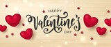 Valentine day greeting card 14 february sale happy heart romantic love background design template with gift box poster banner sale.