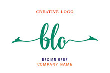 BLO Lettering Logo Is Simple, Easy To Understand And Authoritative