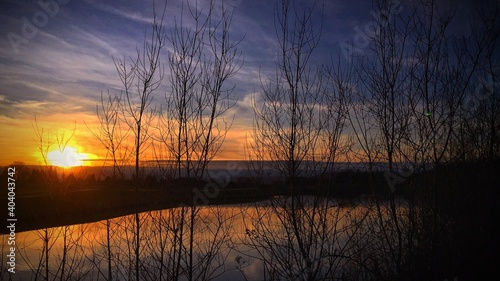 Obraz Scenic View Of Lake During Sunset - fototapety do salonu