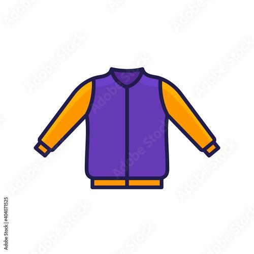 Valokuvatapetti bomber jacket icon with outline