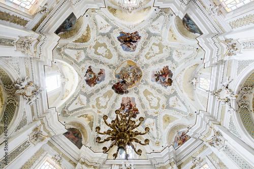 abside of Sant'Antonino church in Ferla, Siracusa, Sicily, Italy, Europe, Mediterranean