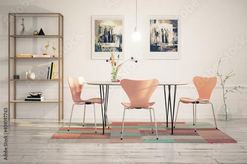 Cute Dinning Room Furniture Design - 3D Visualization