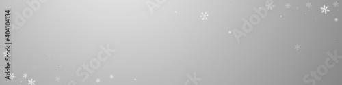 Vászonkép Sparse snowfall Christmas background