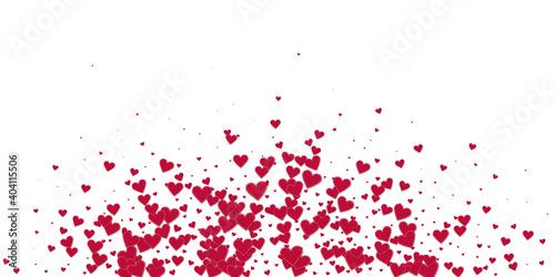 Obraz na plátně Red heart love confettis
