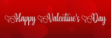 Valentine's Day Text On Red Background