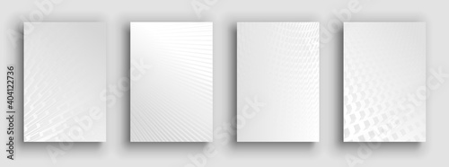Fototapeta Minimal covers design. White set obraz