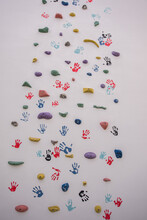Artistic Painted Climbing Wall