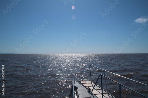 Obraz na plátně Scenic View Of Sea Against Clear Blue Sky