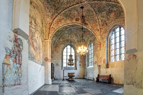 Fotografie, Tablou Interior of Tradesmen's Chapel (Kraemarekapellet) at St