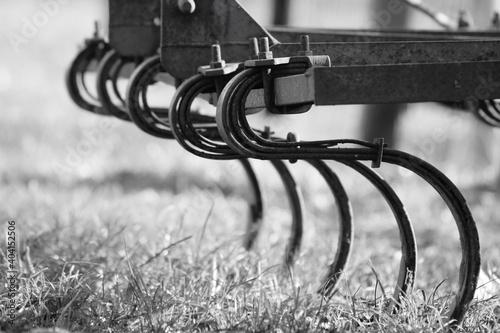 Fotografie, Obraz Close-up Of Metal On Field