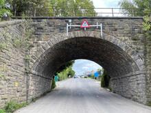 Victorian Stone Railway Bridge On, Barnard Road In, Bradford, Yorkshire, UK