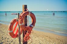 Beaches Of The Adriatic Sea In Summer, Abruzzo, Italy
