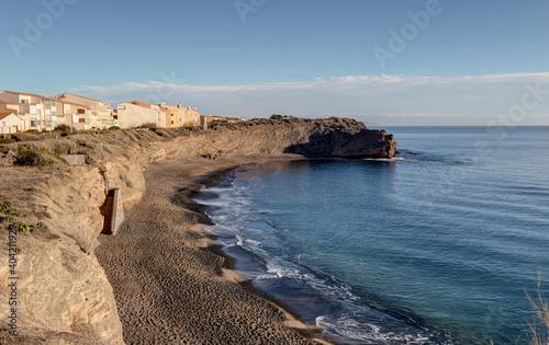 Fotomural Le Cap d'Agde -  Vue sur la plage de la Grande Conque - Hérault - Occitanie