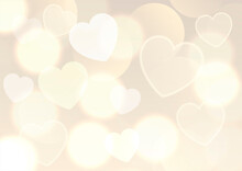 Valentines Day Background With Gold Bokeh Lights Design