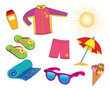 Summer vacation objects for girl