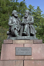 Monument To Karl Marx And Friedrich Engels