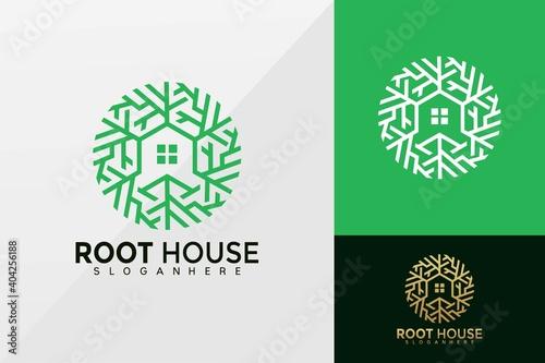 Photo Root House business logo vector, Brand Identity Logos design, modern logo, Logo