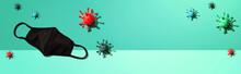 Mask With Epidemic Influenza And Coronavirus Covid-19 Concept