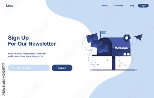 Billede på lærred Vector banner illustration of email marketing