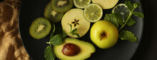 Healthy Green Fruit Background