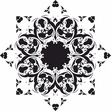 Decorative Element And Rosette Mandala