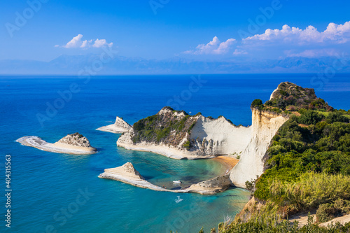 Fotografie, Tablou Corfu, Greece. View of the cliffs at Cape Drastis.