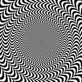 Fototapeta Perspektywa 3d - geometric optical illusion. white and black circle psychedelic pattern