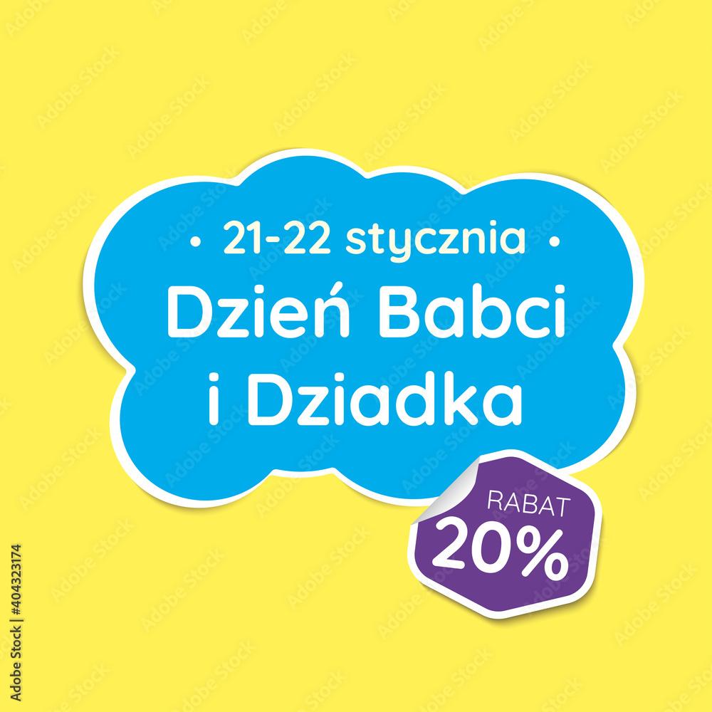 Fototapeta Dzień Babci i dziadka etykieta baner. Wektor.