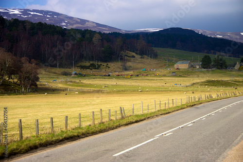 Fotografiet Scottish rural landscape