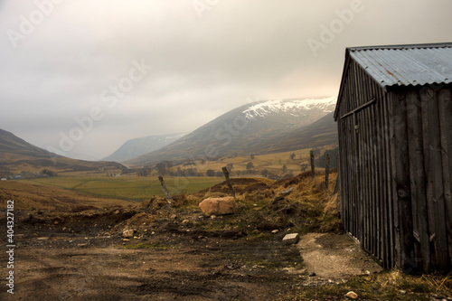 Scottish rural landscape Fototapet
