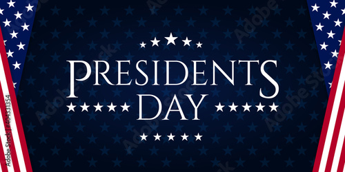 Obraz na plátně USA Presidents Day - Washington's Birthday celebrate banner background