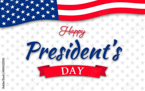 Fotografie, Obraz USA Presidents Day - Washington's Birthday celebrate banner background