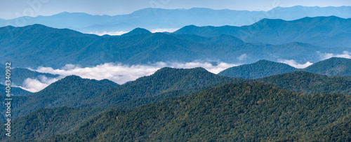 Foggy Morning in the Valleys of the Appalachian Mountains View from The Blue Rid Wallpaper Mural