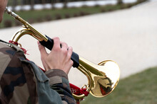 The Military Man Plays The Trumpet