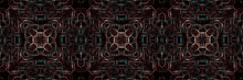Vintage Red And Brown Digital Line Pattern. Background And Texture