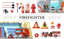 Flat Firefighting Elements Composition