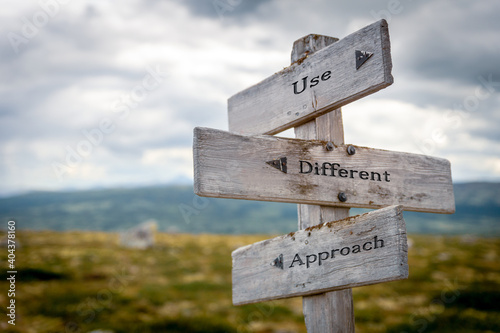 Cuadros en Lienzo use different approach signpost outdoors in nature