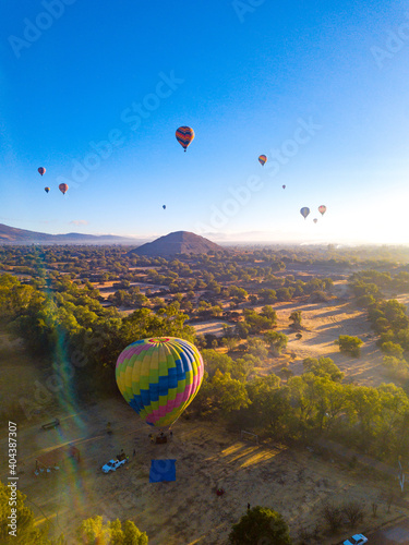 Globo aerostático Teotihuacan