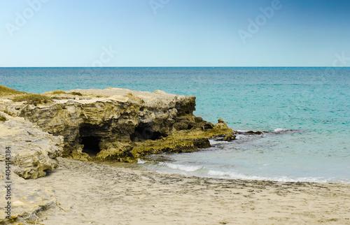Obraz Scenic View Of Sea Against Clear Blue Sky - fototapety do salonu